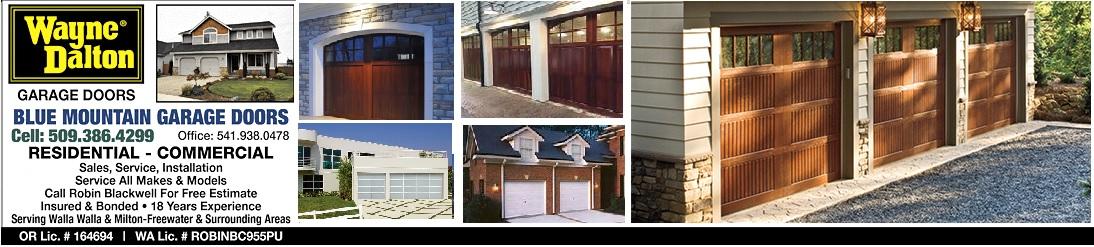 Garage Doors Milton Freewater Oregon Blue Mountain Garage Doors